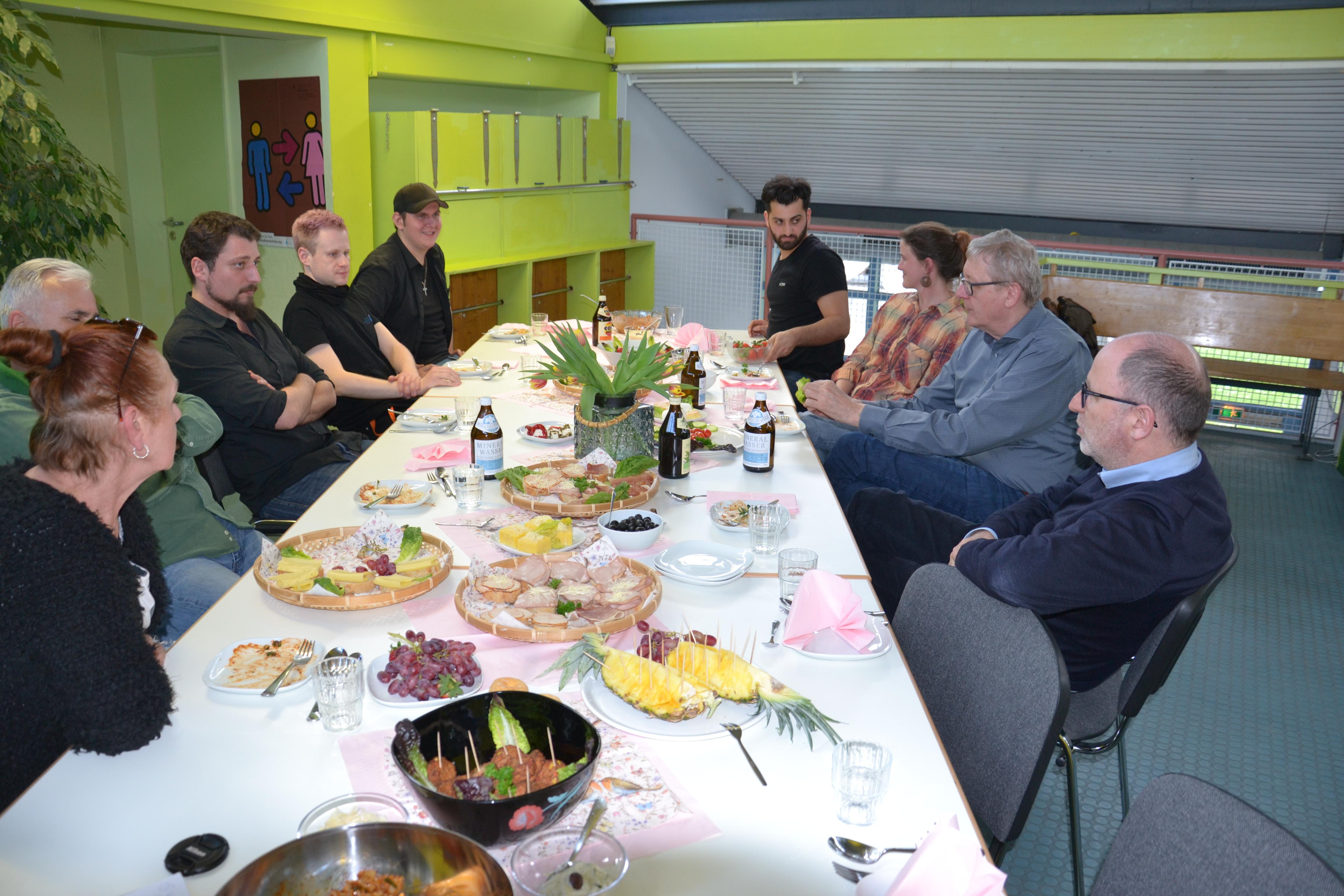 Team KistE mit DK Franzl und Vorstand Wübbeling