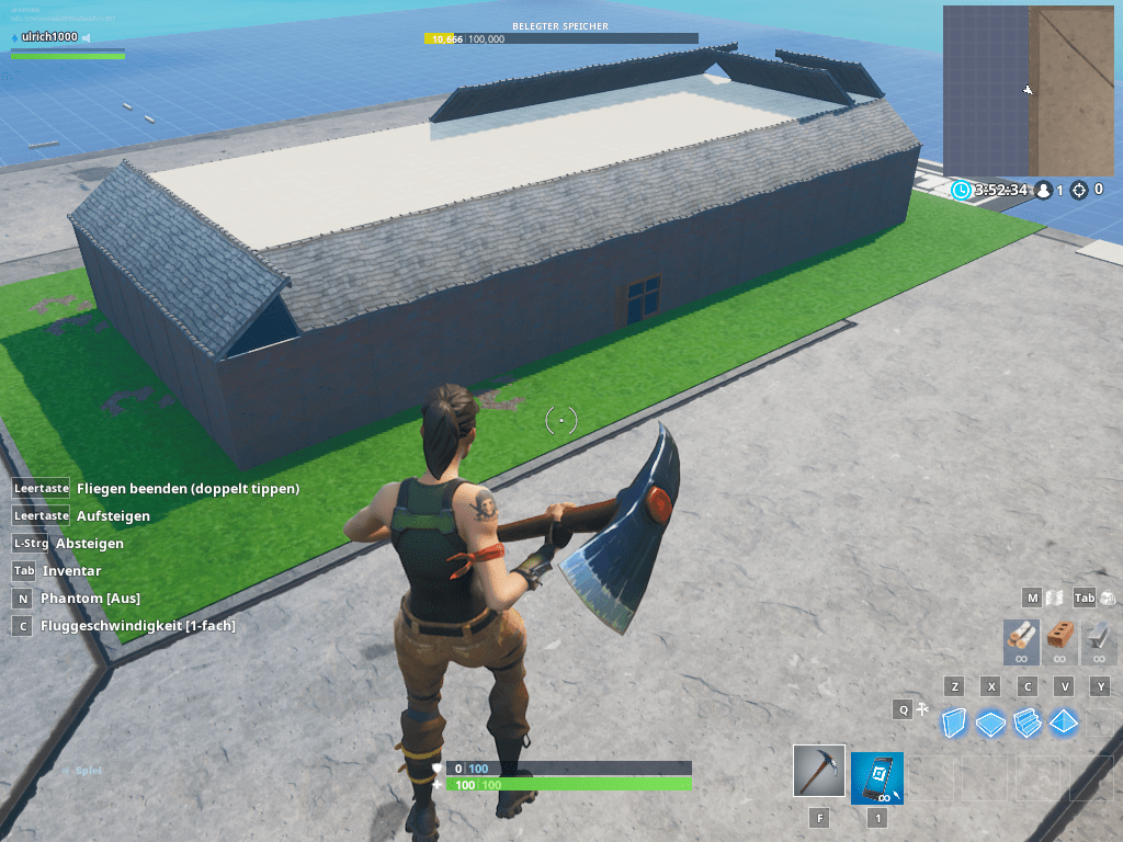 Fortnite Creative Mode in der KistE 1