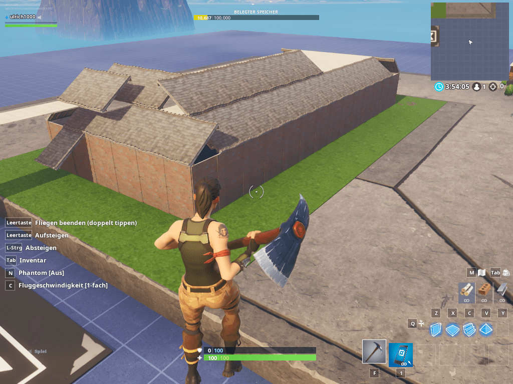Fortnite Creative Mode in der KistE 5
